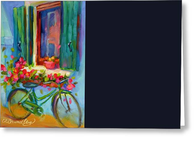Reflections Of Burano Greeting Card by Chris Brandley