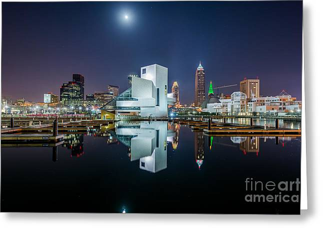 Reflections Of Cleveland  Greeting Card by Frank Cramer