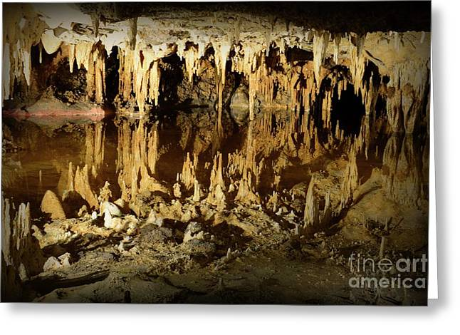 Reflections Of Dream Lake At Luray Caverns Greeting Card by Paul Ward