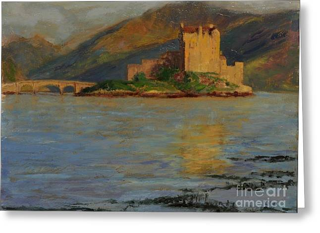 Reflections Of Eilean Donan Greeting Card by Don Ellis