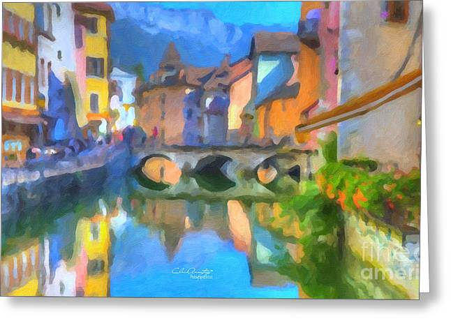Reflections Of Eze Greeting Card