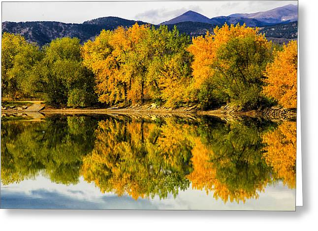 Reflections Of Fall Greeting Card by Juli Ellen