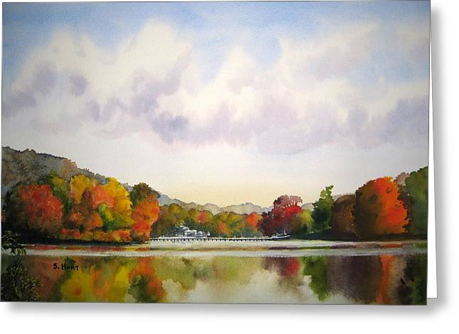 Reflections Of Fall Greeting Card by Shirley Braithwaite Hunt