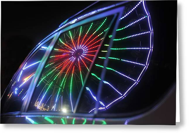 Reflections Of Ferris Greeting Card by David Lee Thompson