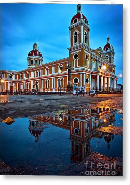 Reflections Of Granada, Nicaragua  Greeting Card