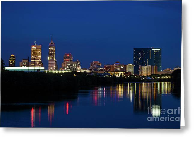 Greeting Card featuring the photograph Reflections Of Indy - D009911 by Daniel Dempster