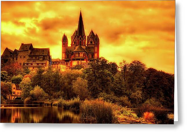 Reflections Of Limburg Germany Greeting Card