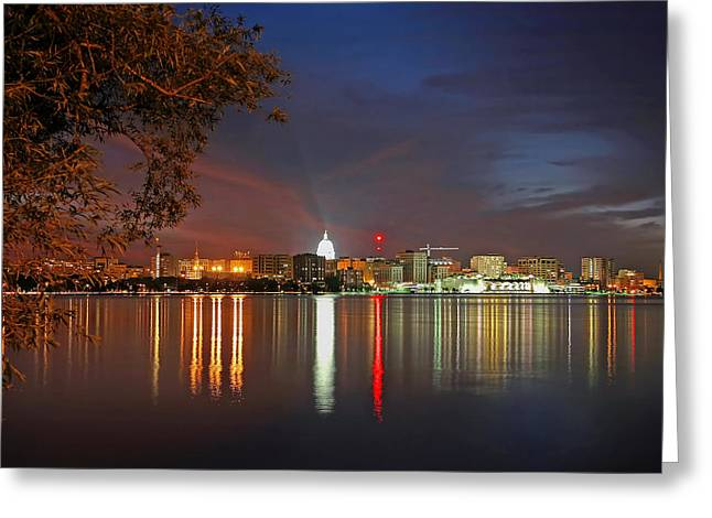 Reflections Of Madison Greeting Card by Todd Klassy