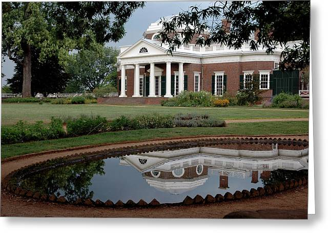 Reflections Of Monticello Greeting Card