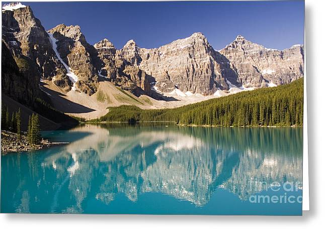 Greeting Card featuring the photograph Reflections Of Moraine Lake by Andrew Serff
