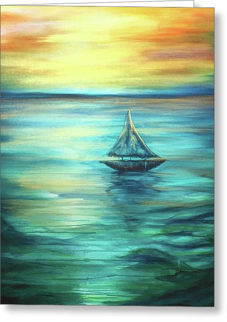 Reflections Of Peace Greeting Card