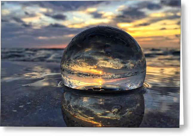 Reflections Of The Crystal Ball Greeting Card