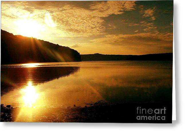 Reflections Of The Day Greeting Card by Scott D Van Osdol