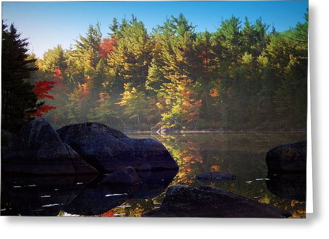 Reflections Of The Shannon River Greeting Card