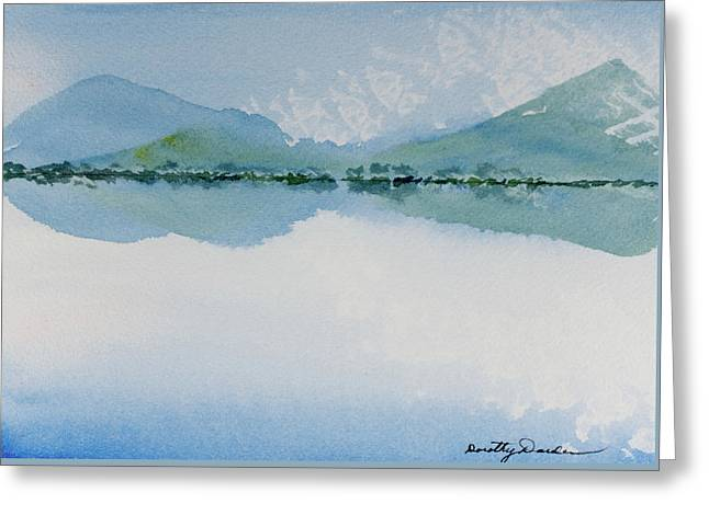 Reflections Of The Skies And Mountains Surrounding Bathurst Harbour Greeting Card