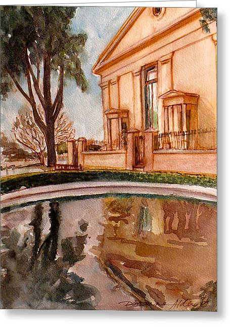 Reflections On A Rainy Day Greeting Card by Doranne Alden