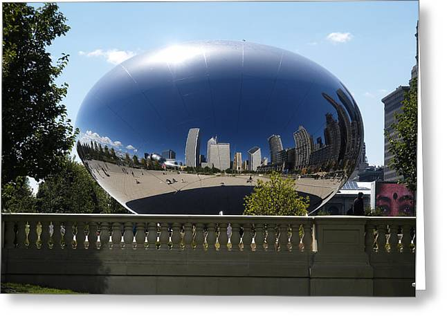 Reflections On Chicago Greeting Card