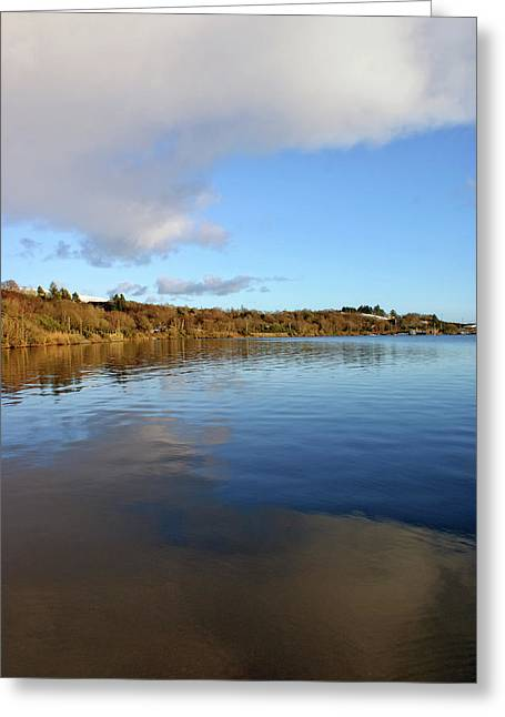 Reflections On Lough Fea. Greeting Card
