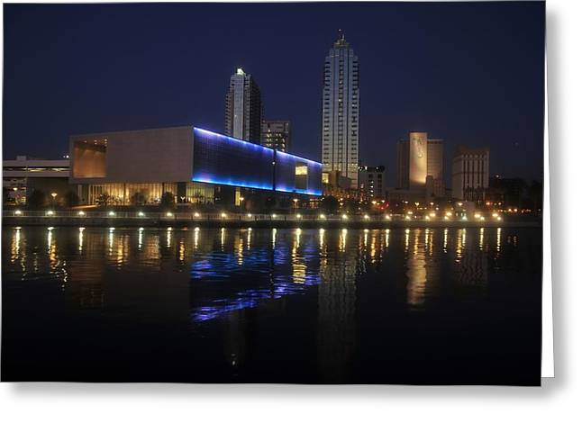 Reflections On Tampa Greeting Card by David Lee Thompson
