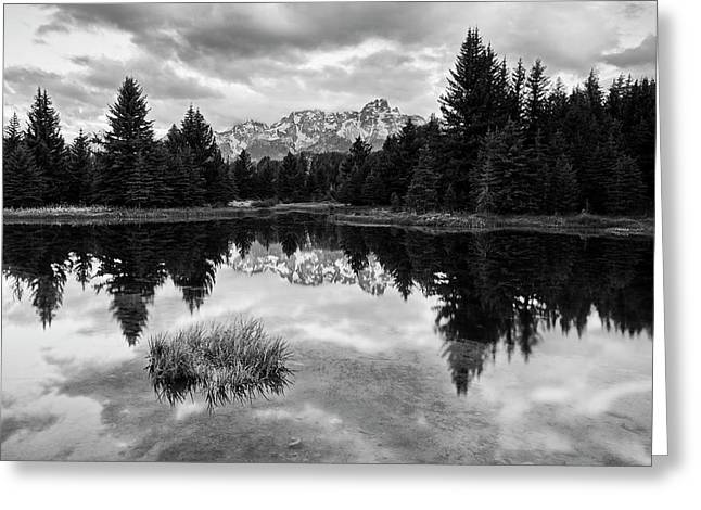 Reflections On The Tetons Greeting Card