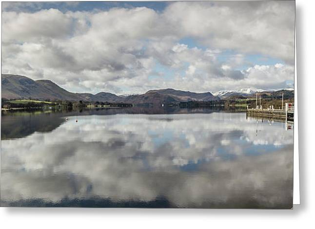 Greeting Card featuring the photograph Reflections On Ullswater by RKAB Works