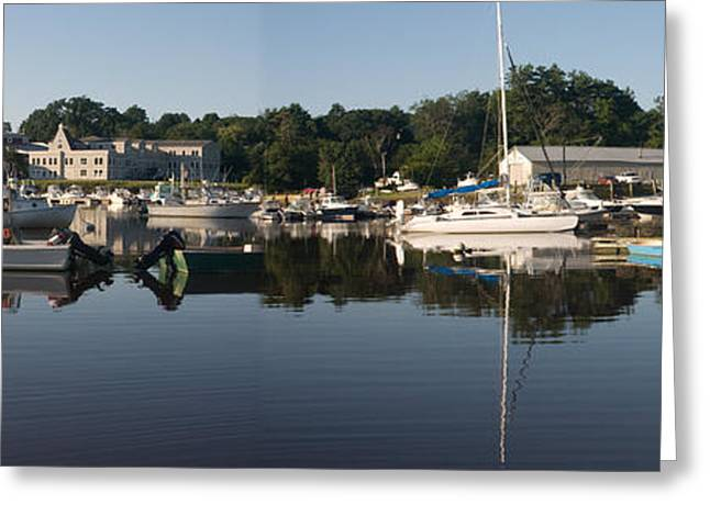 Greeting Card featuring the photograph Reflections On Yarmouth Harbor by David Bishop