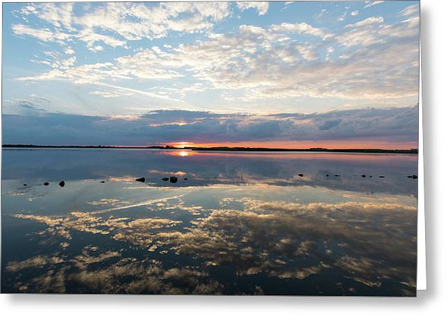 Reflections Over Back Bay Greeting Card