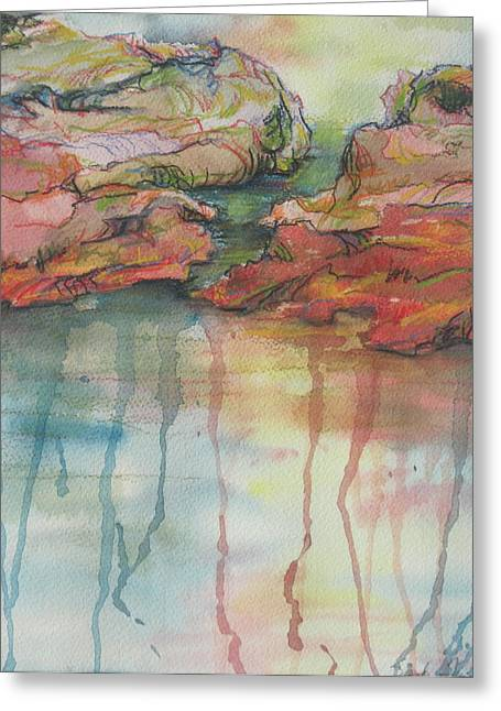 Reflections Greeting Card by Sandy Tracey