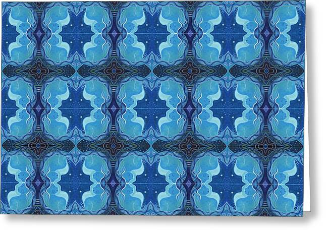 Reflections - T J O D 26 Compilation Tile Greeting Card by Helena Tiainen