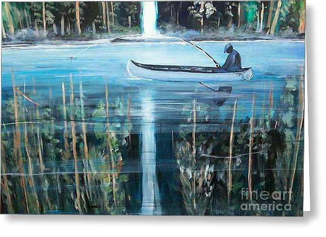 Reflections Greeting Card by Tyrone Hart