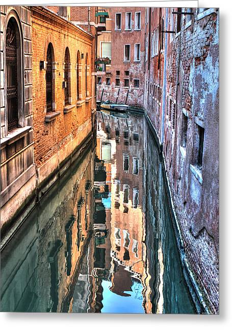 Reflections Venice Italy Greeting Card