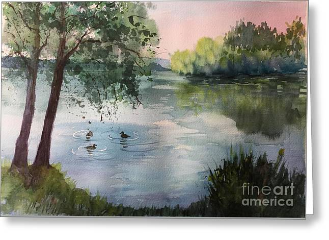Reflections Greeting Card by Yohana Knobloch