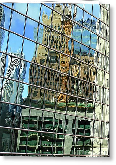 Reflective Chicago Greeting Card