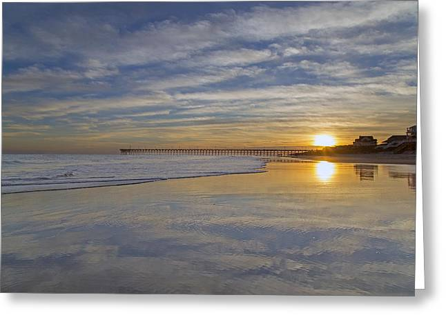 Reflective Paradise Greeting Card by Betsy Knapp