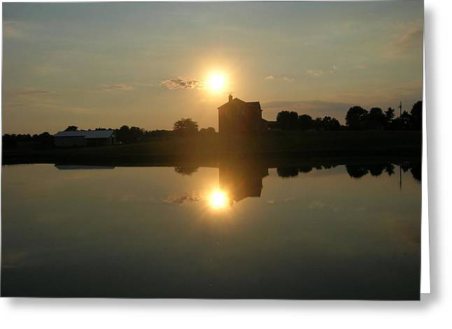 Reflective Sun Greeting Card by Martie DAndrea
