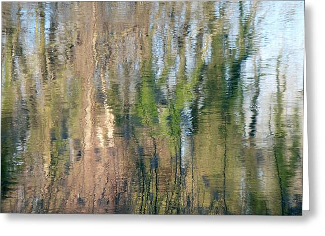 Greeting Card featuring the photograph Reflet Rhodanien Pastel 1 by Marc Philippe Joly