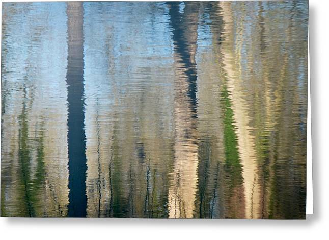 Greeting Card featuring the photograph Reflet Rhodanien Pastel 2 by Marc Philippe Joly