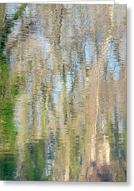 Greeting Card featuring the photograph Reflet Rhodanien Pastel 3 by Marc Philippe Joly