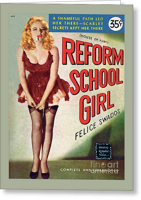 Reform School Girl Greeting Card