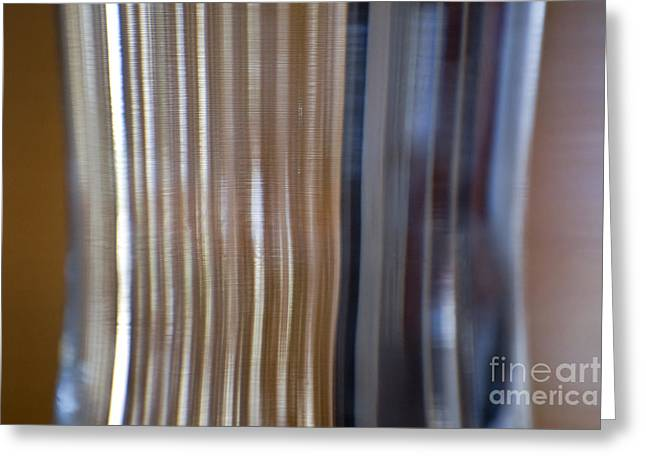 Refraction In Glass Greeting Card