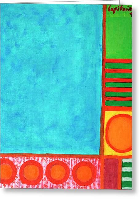 Refreshing Blue Greeting Card by Heidi Capitaine