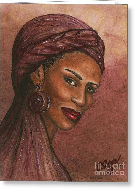 Regal Lady In Plum Greeting Card