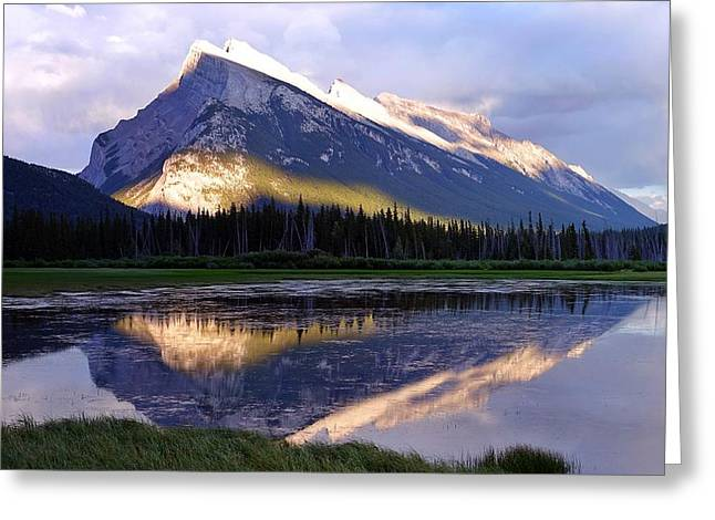Mount Rundle Greeting Card by Heather Vopni