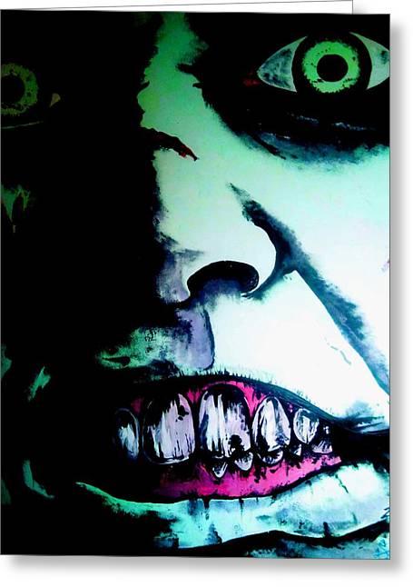 Regan Exorcist Greeting Card by Sam Hane