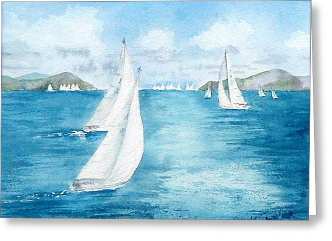 Regatta Time Greeting Card