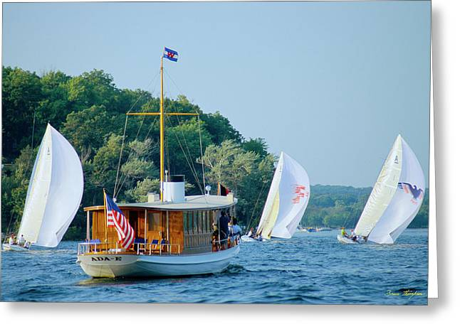 Regatta Watcher - Lake Geneva Wisconsin Greeting Card