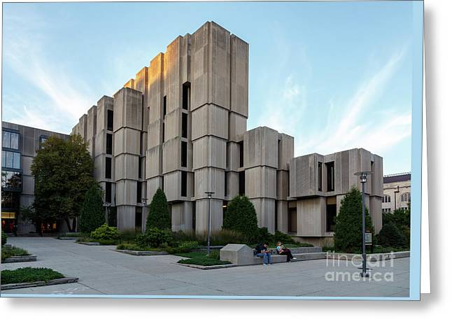 Regenstein Library At Uofc Greeting Card
