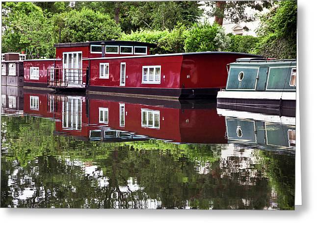 Greeting Card featuring the photograph Regent Houseboats by Keith Armstrong