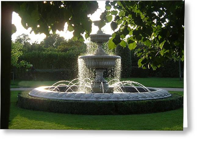 Regents Park Fountain Greeting Card