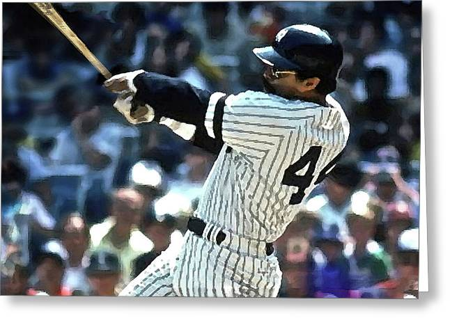 Reggie Jackson, Mr October, Yankee Uniform, Number 44 Greeting Card
